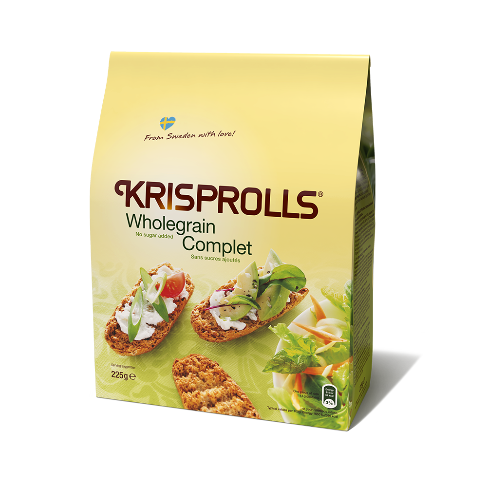 KRISPROLLS Unsweetened Wholegrain